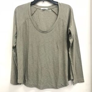 James Perse Olive Long Sleeve Tee size 2 (M)